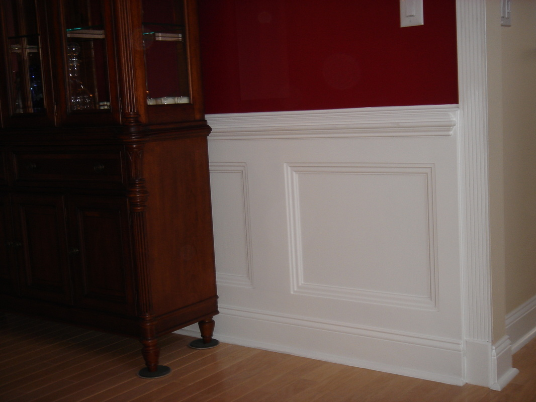 Pinterest the world s catalog of ideas for Dining room molding panels